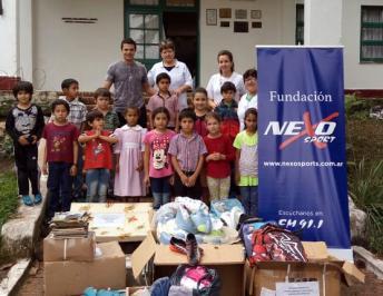 La Fundación Nexo Sport entregó donaciones de amigos motociclistas de Buenos Aires